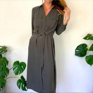 H&M M Olive Maxi Dress NWOT